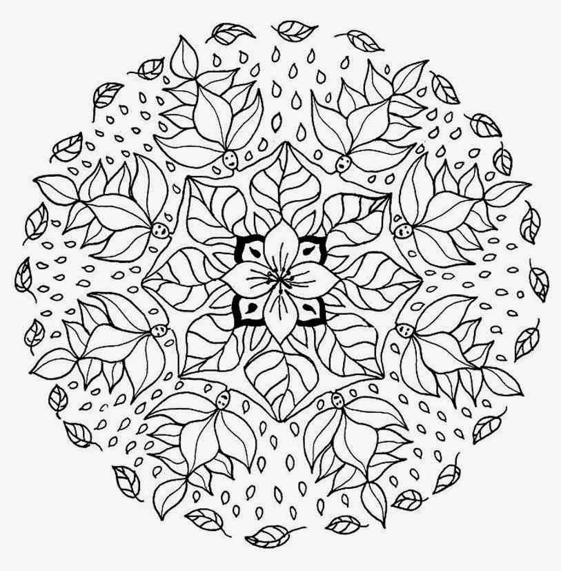 813x827 Glamorous Fall Mandala Coloring Pages Best Mandalas Images