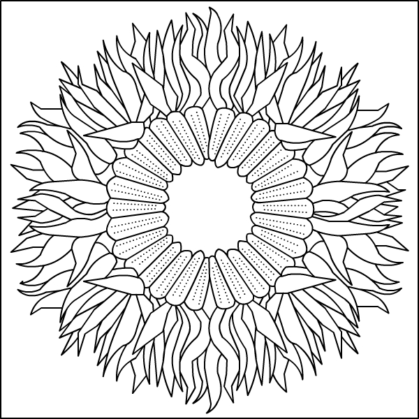 600x600 Nicole's Free Coloring Pages Autumn Mandala Coloring Pages