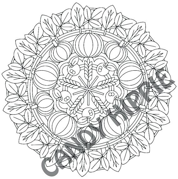 570x575 Thanksgiving Mandala Coloring Pages Fall Mandala Coloring Pages