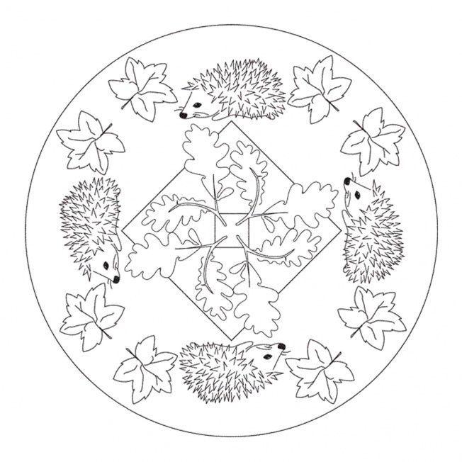 652x652 Fall Mandala Colorin Page