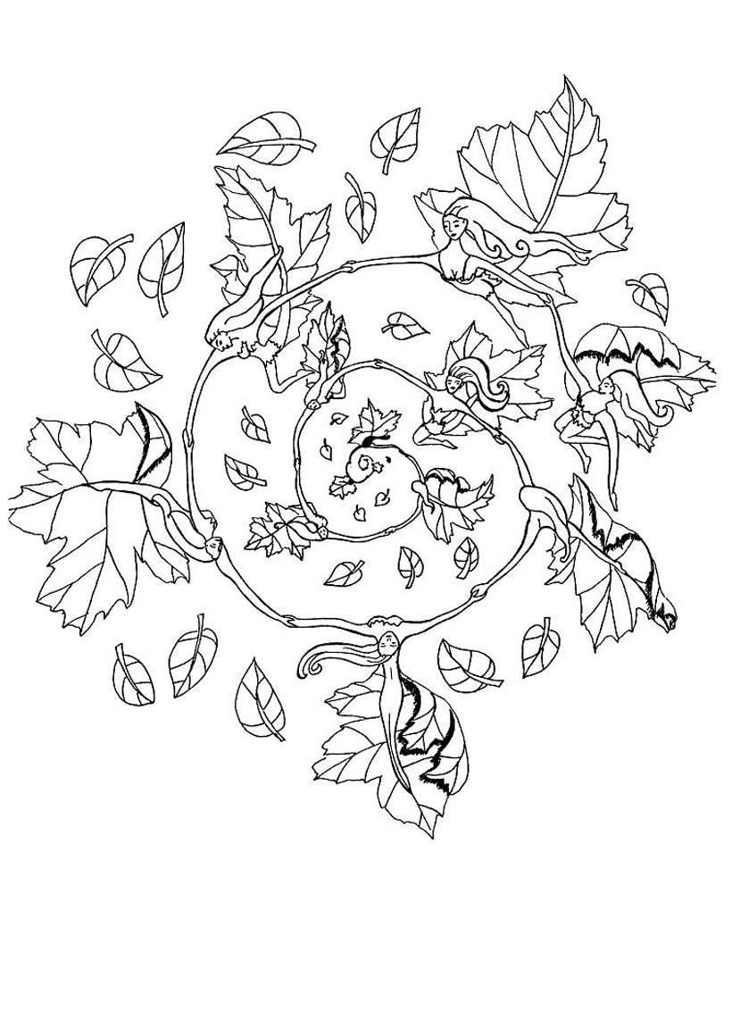 820x1160 Autumn Mandala Coloring Pages Coloring Sheets