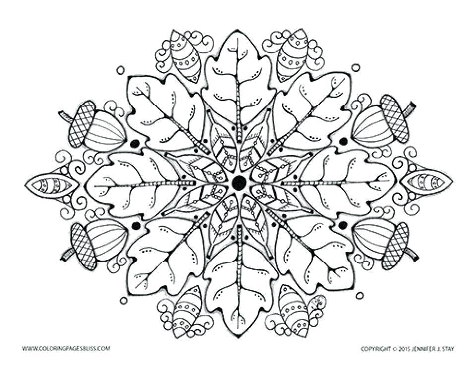 960x741 Autumn Mandala Coloring Pages Coloring Books For Seniors Plus