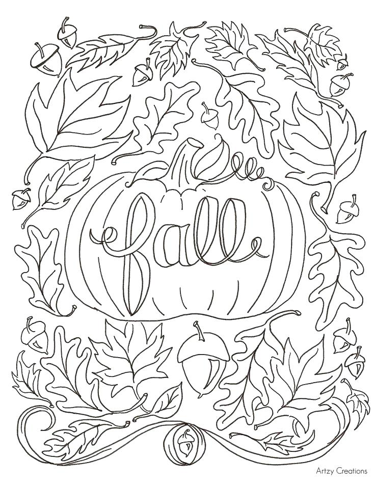736x952 Autumn Coloring Pages Printable Free Coloring Sheets Autumn