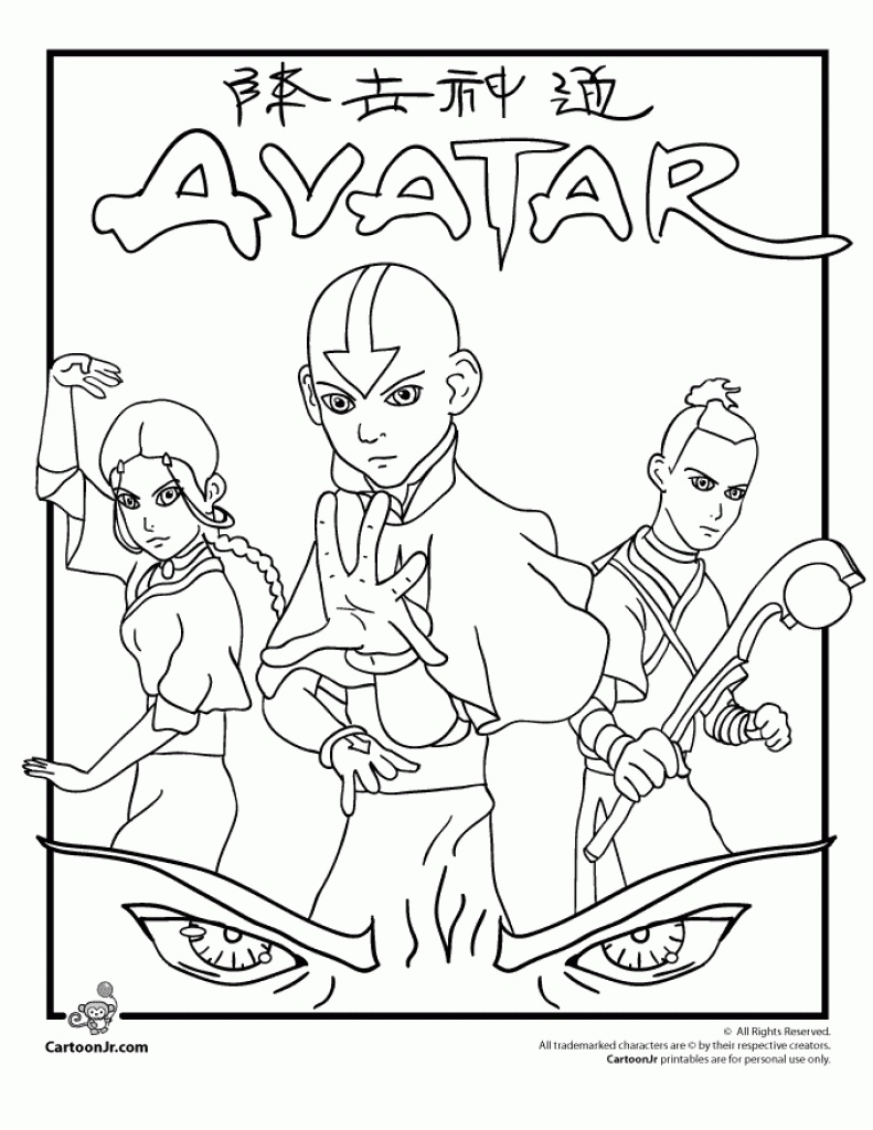 Avatar Coloring Pages At Getdrawings Com Free For Personal Use