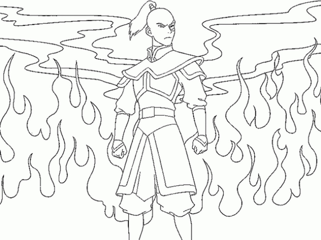1048x786 Avatar Last Airbender Coloring Page Pages