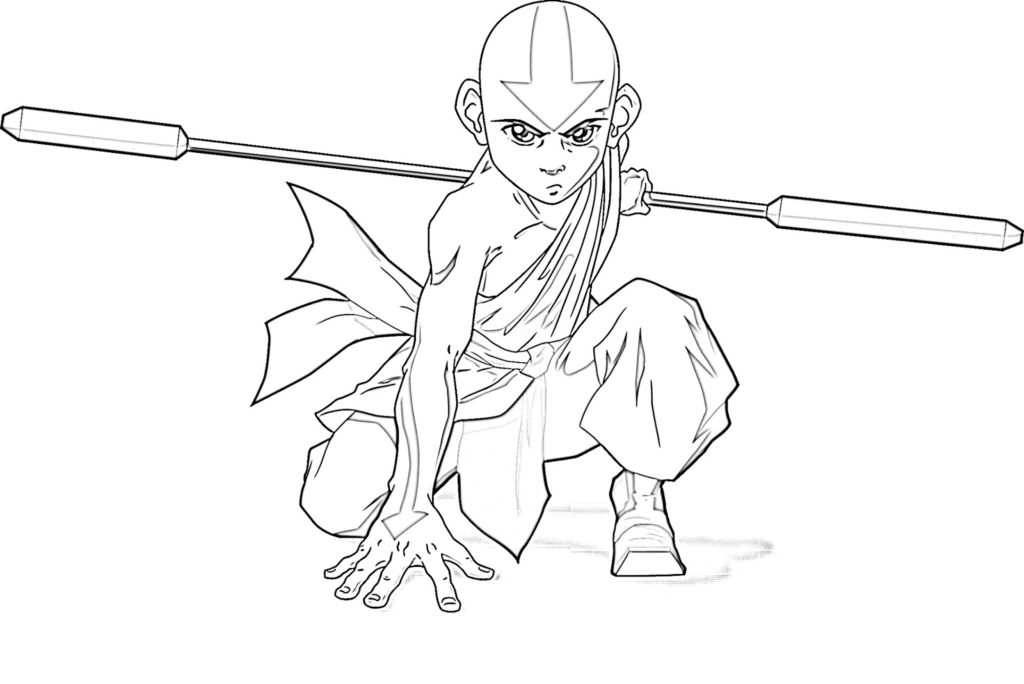 1024x684 Avatar The Last Airbender Coloring Pages Get Bubbles