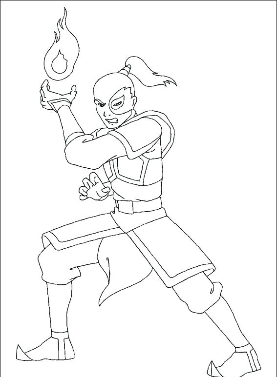 567x773 Avatar The Last Airbender Coloring Pages Avatar Last Coloring