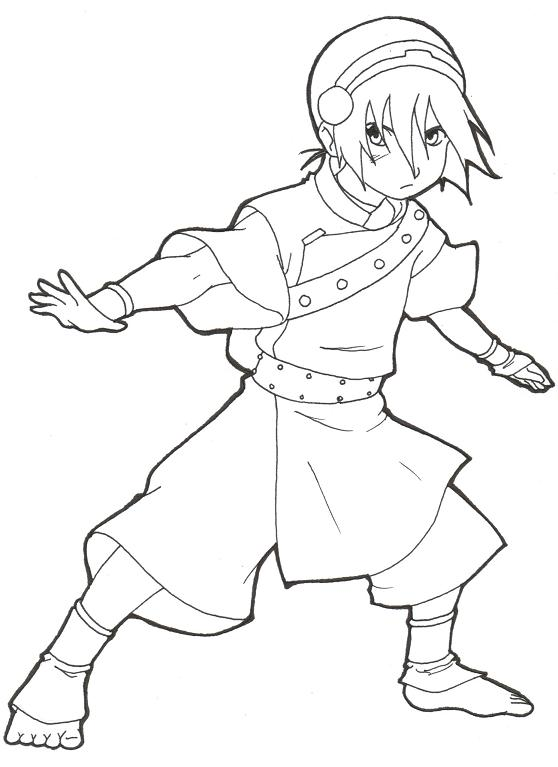 558x767 Avatar The Last Airbender Coloring Pages Toph