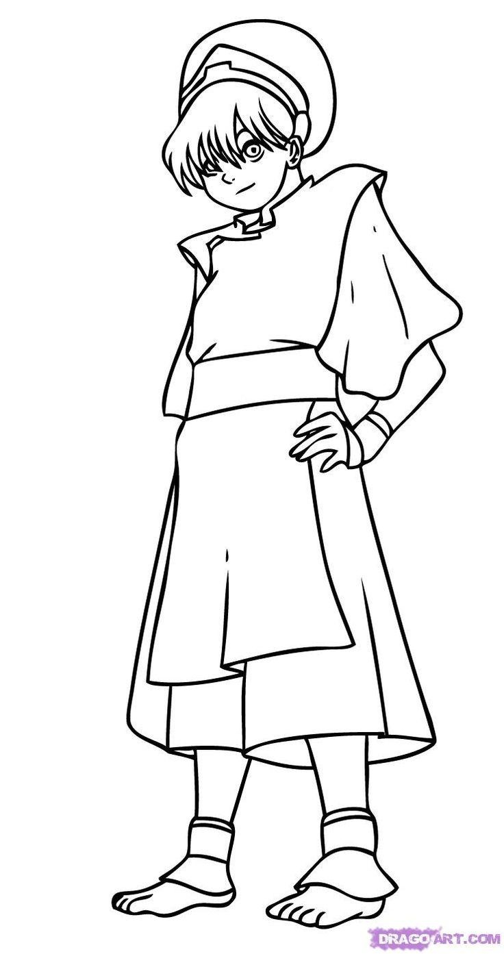 736x1393 Best Of Avatar The Last Airbender Coloring Pages Leversetdujourfo
