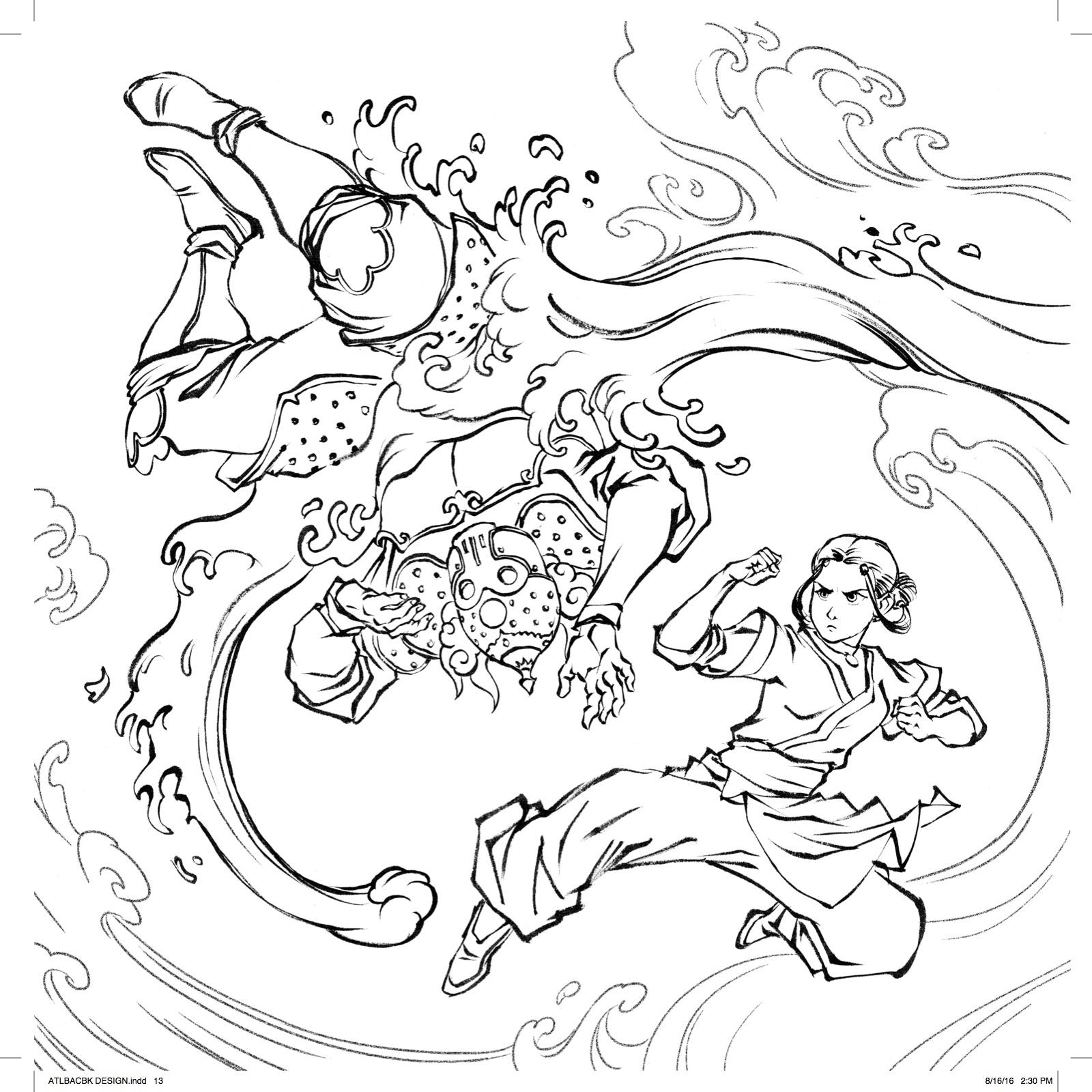 1600x1600 Great Avatar The Last Airbender Coloring Pages Contemporary New