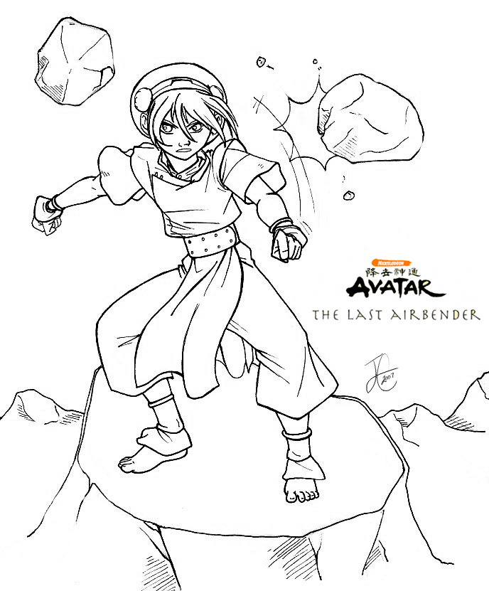 688x831 The Last Airbender Coloring Pages The Last Airbender Party Ideas