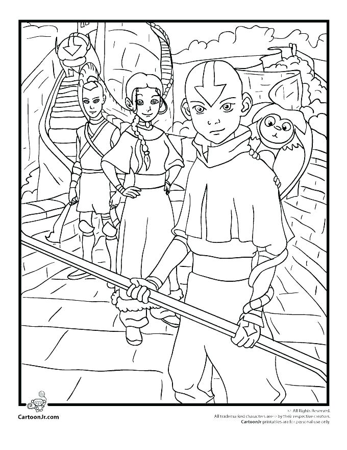 680x880 Avatar The Last Airbender Coloring Pages