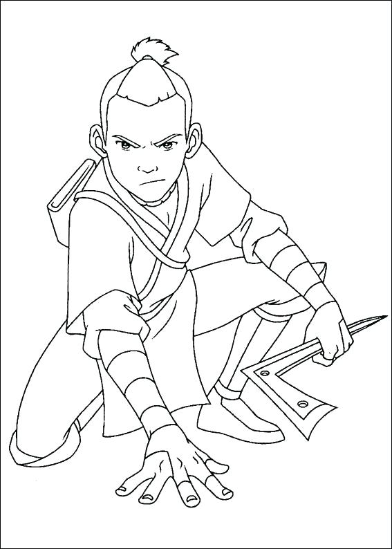 567x794 Coloring Avatar The Last Airbender Coloring Pages M Page Toph