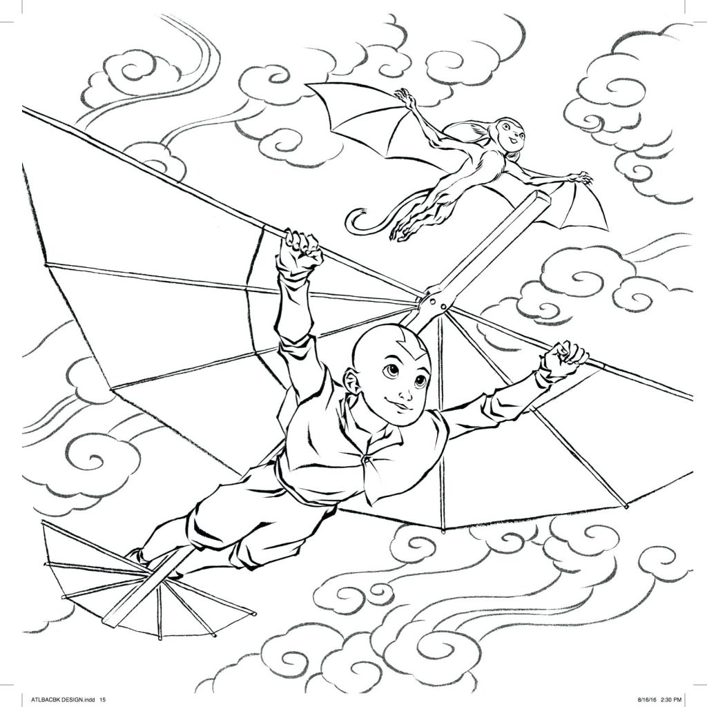 1024x1024 Coloring Page Avatar The Last Airbender Coloring Pages Legend