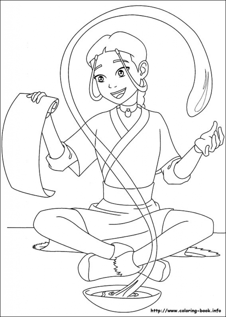 731x1024 Avatar, The Last Airbender Coloring Pages On Coloring Book