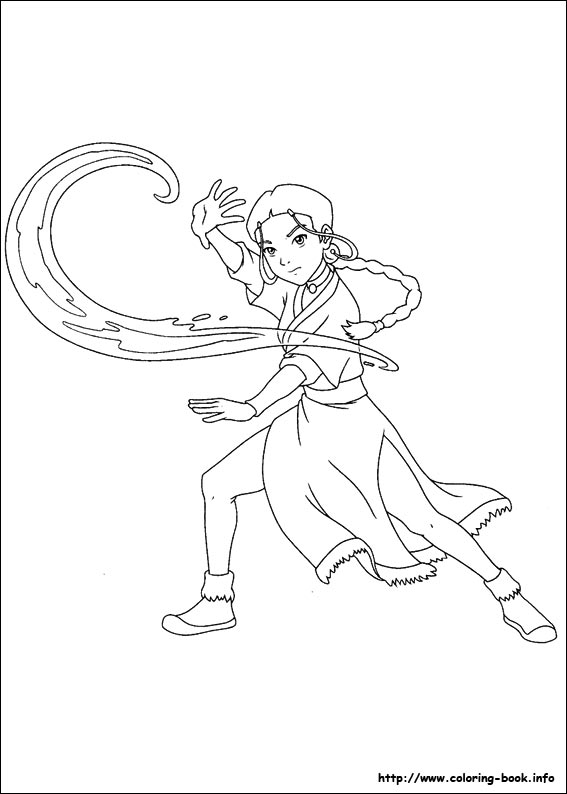 567x794 Avatar, The Last Airbender Coloring Pages On Coloring