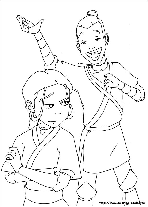 567x794 Avatar, The Last Airbender Coloring Picture
