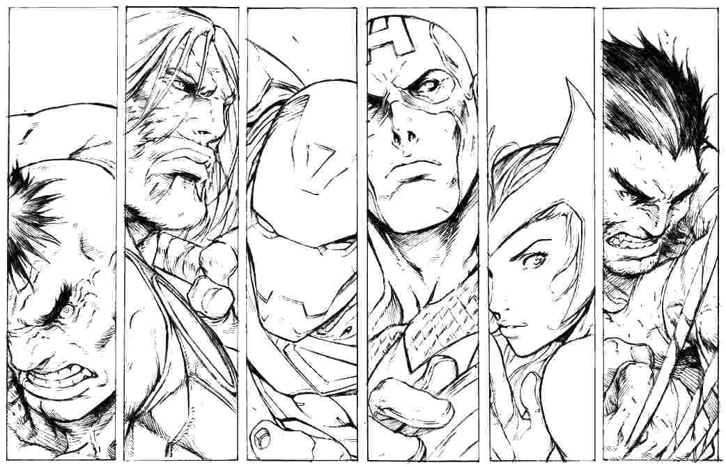 Avengers Coloring Pages at GetDrawings.com | Free for ...