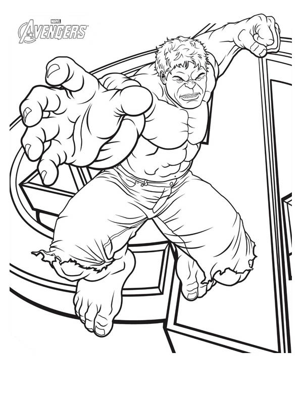 Avengers Hulk Coloring Pages At Getdrawings Free Download