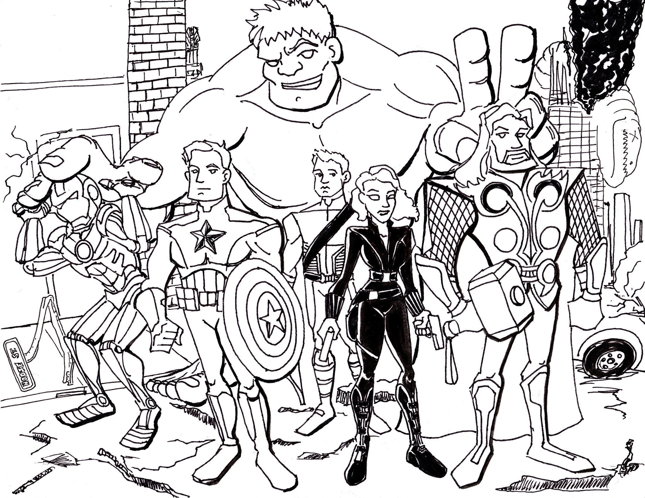 Avengers Logo Coloring Pages