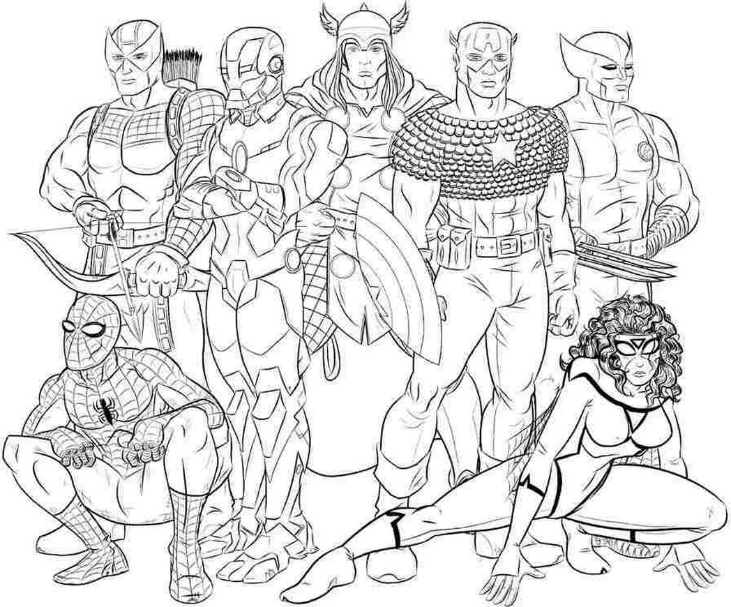 Avengers Printable Coloring Pages At Getdrawings Com Free For