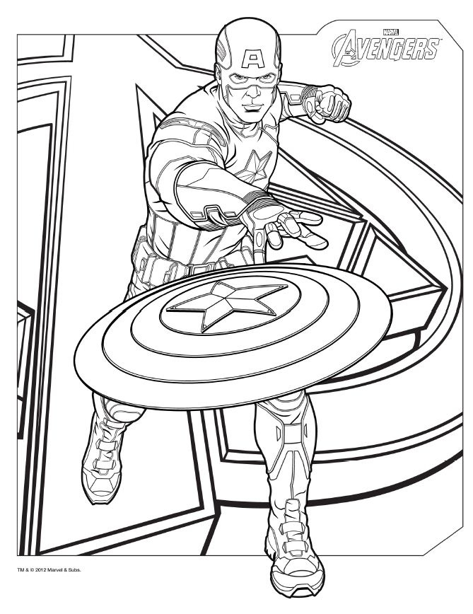 Avengers Printable Coloring Pages At Getdrawings Free Download