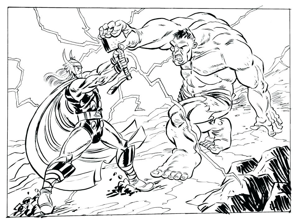 960x711 Thor Coloring Page Coloring Pages Lego Thor Colouring Pages