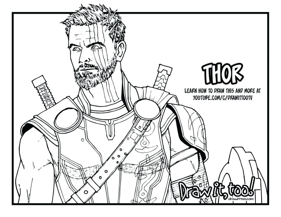 948x732 Thor Coloring Page In Avengers Coloring Pages Thor Coloring Pages