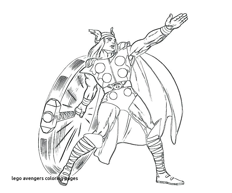 800x667 Thor Coloring Page Golfclixfo For Lego Avengers Coloring Pages