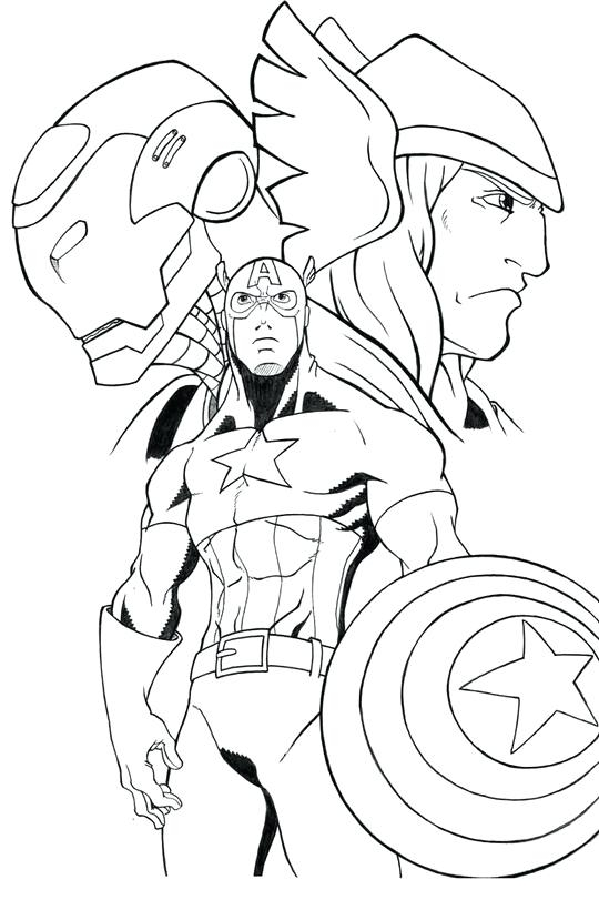540x820 Thor Coloring Page In Avengers Coloring Pages Thor Free Printable