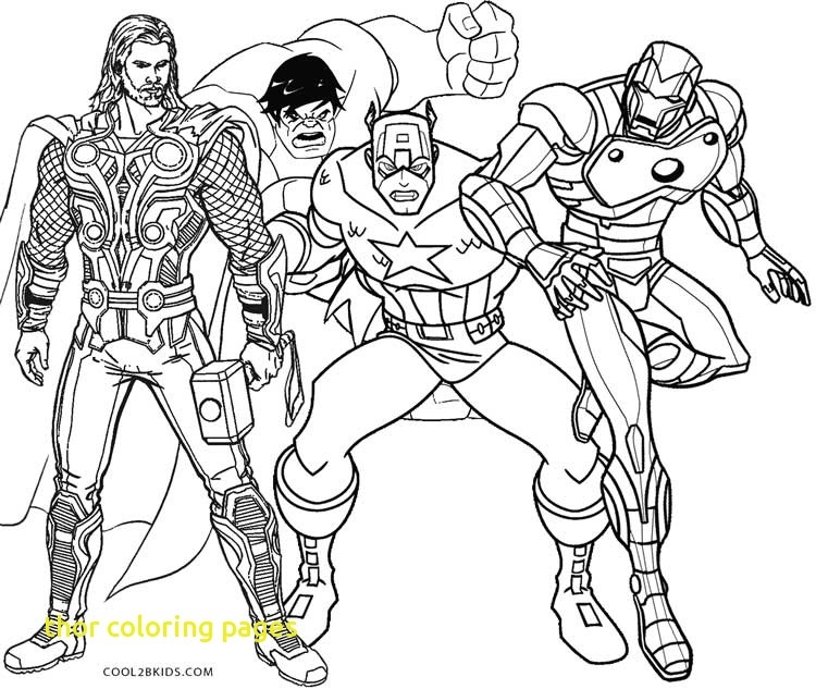 750x633 Thor Coloring Pages With Avengers Thor Coloring Page Free