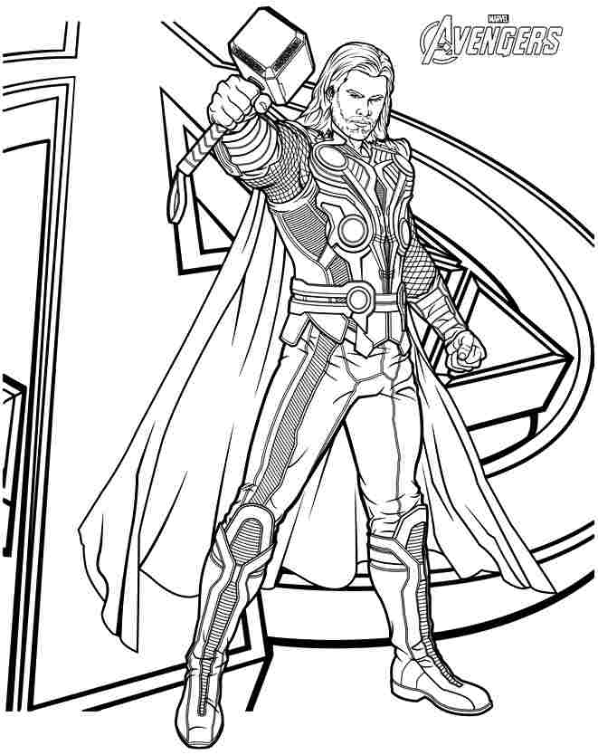 661x834 Avengers Coloring Pages Print Color Craft