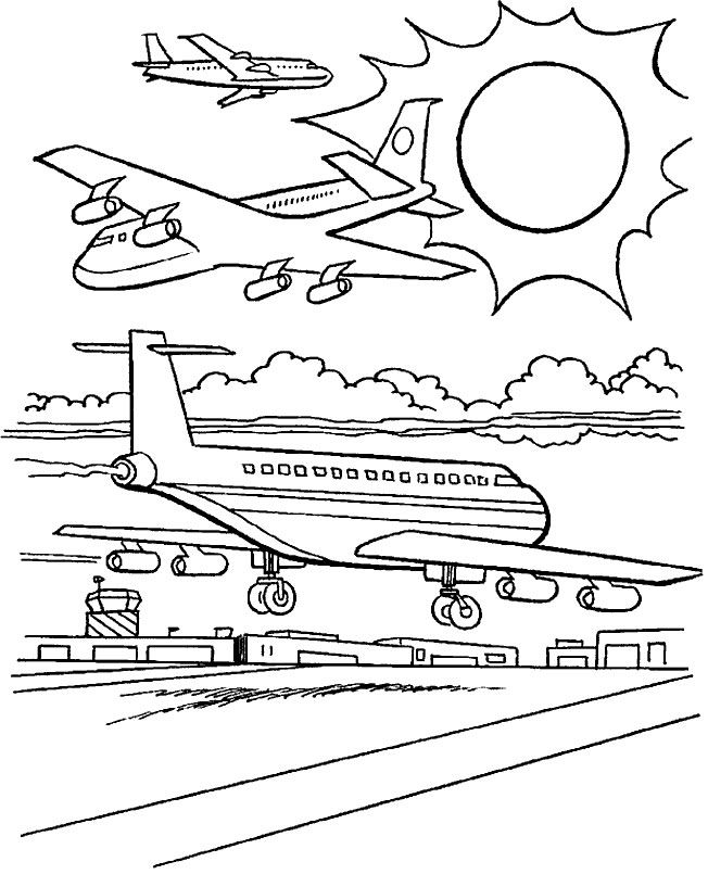 Aviation Coloring Pages
