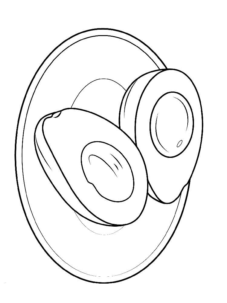 750x1000 Avocado Coloring Pages Download And Print Avocado Coloring Pages