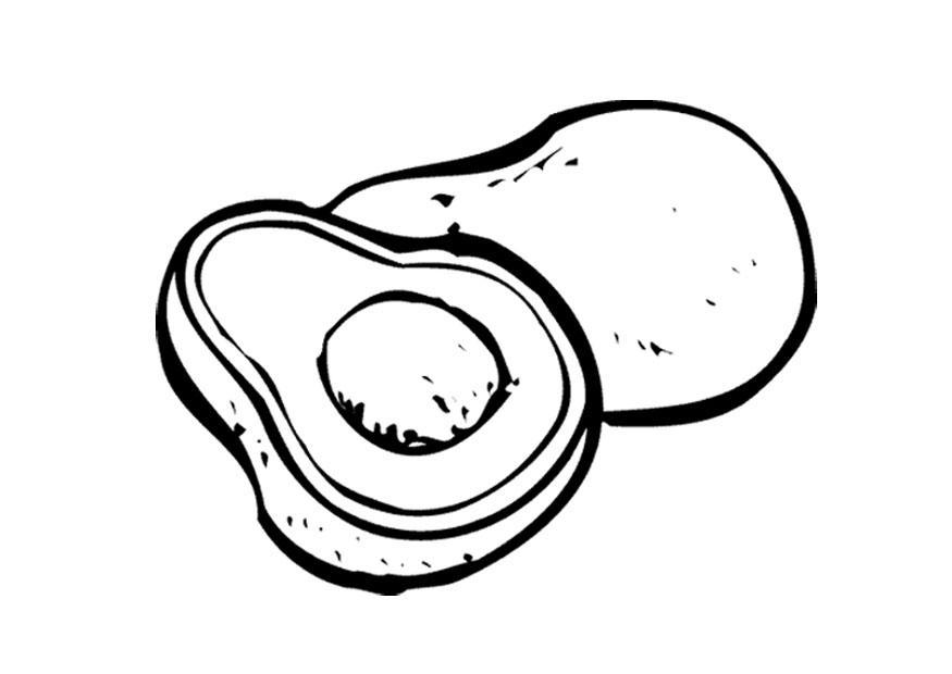 875x620 Coloring Page Avocado