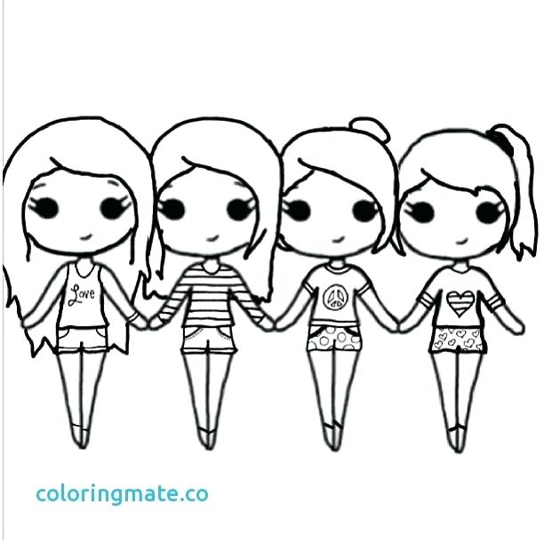 612x612 Bff Coloring Pages Awesome Coloring Page For Teenage Girls Bff