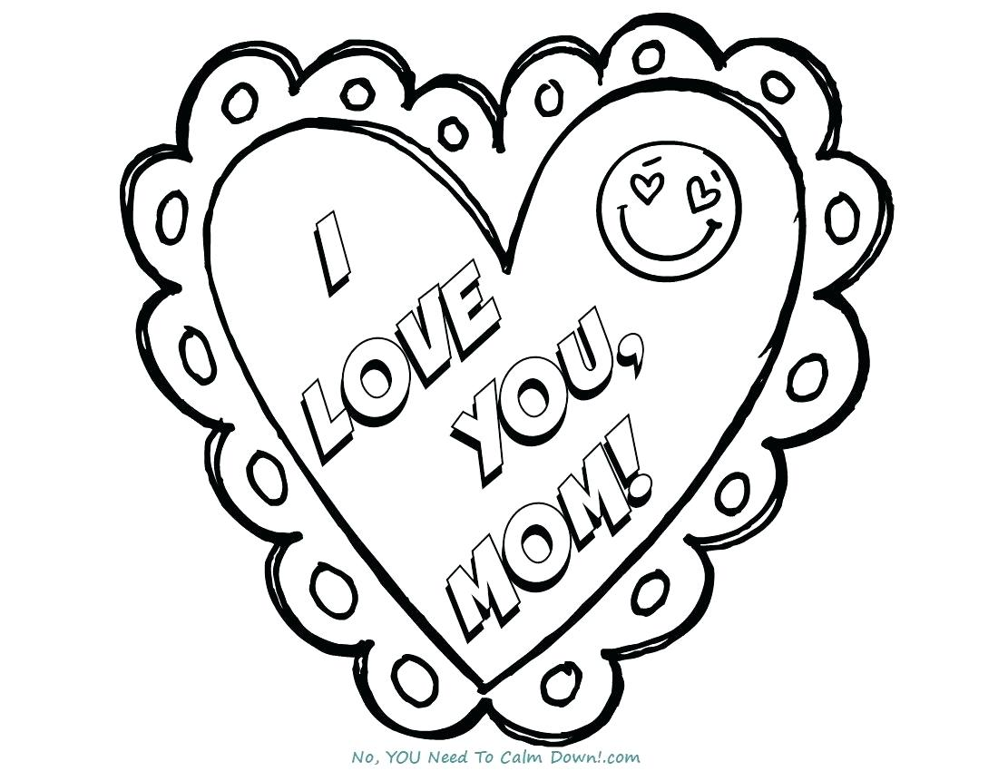 1100x850 Coloring Pages That Say I Love You Mom Mothers Day Page Free