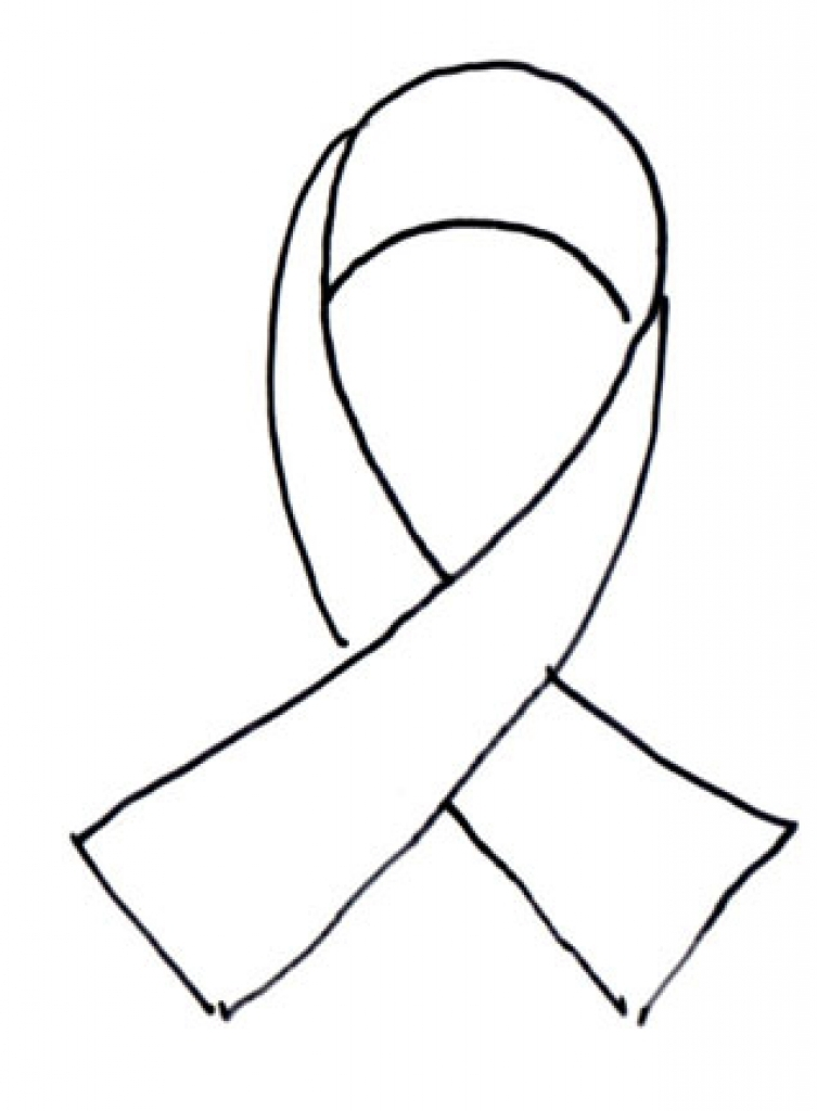 753x1024 Ribbon Coloring Page Beauteous Ribbon Coloring Sheet Glamorous