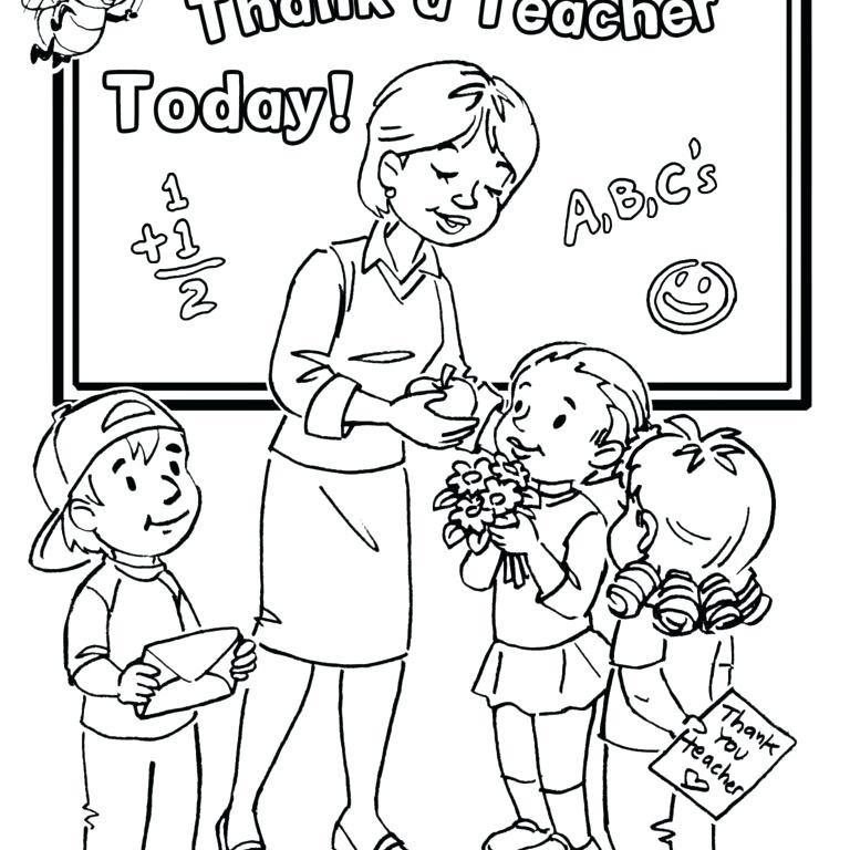 768x768 Teacher Appreciation Coloring Pages Teacher Coloring Pages Teacher