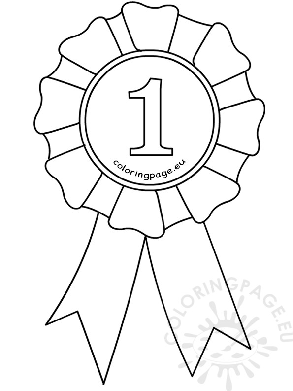 595x793 Award Ribbon Template Coloring Page