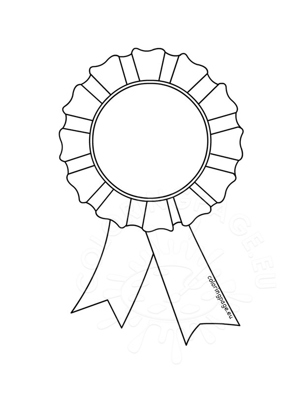 595x822 Award Rosette Template Coloring Page