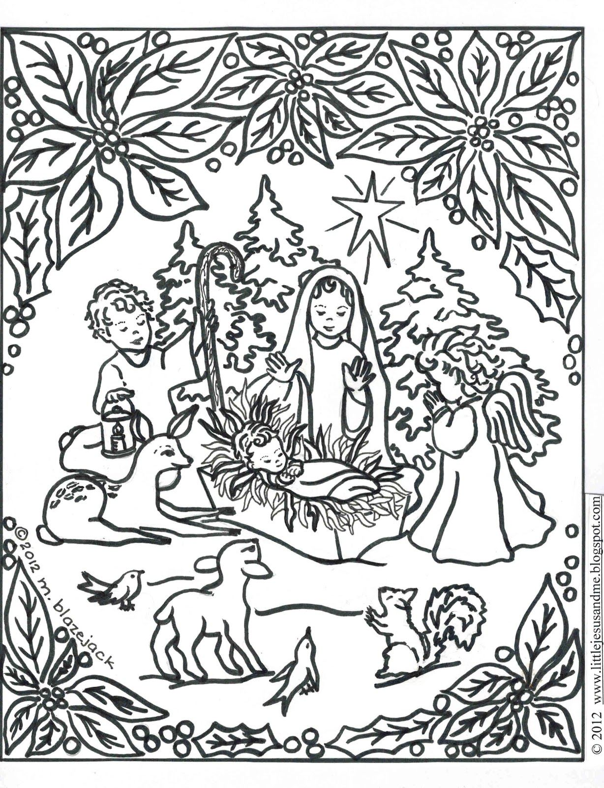 1228x1600 Jesus And Nativity Coloring Page Catholic Crafts Coloring