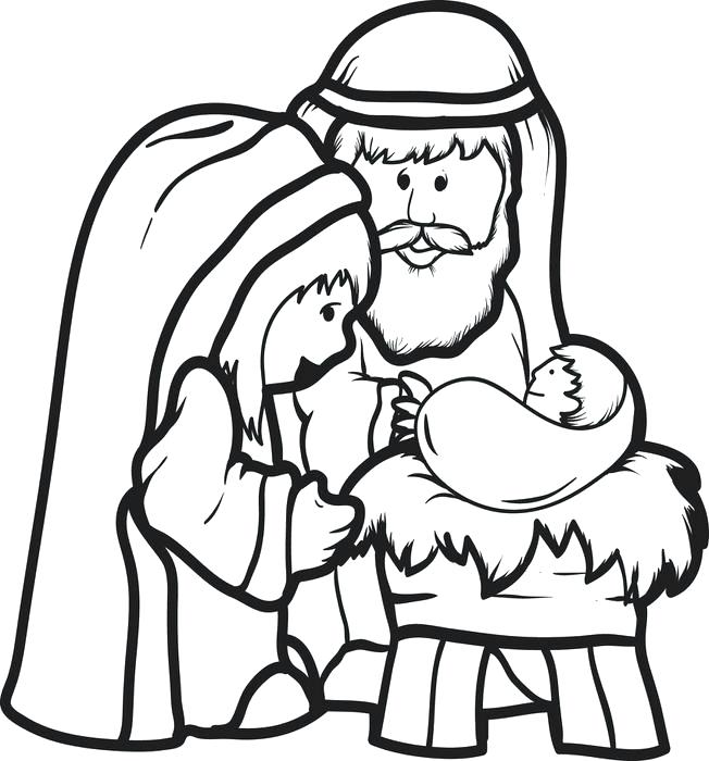 652x700 Manger Coloring Is Born In A Manger In Nativity Coloring Page