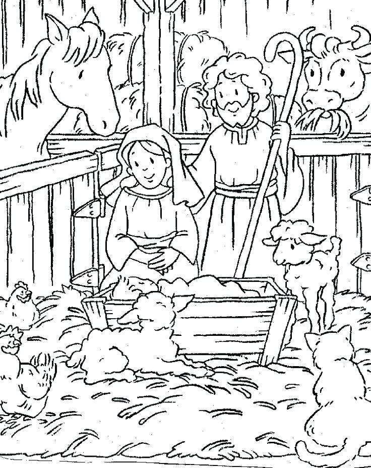 736x928 Manger Coloring Page Nativity Color Page Manger Coloring Page