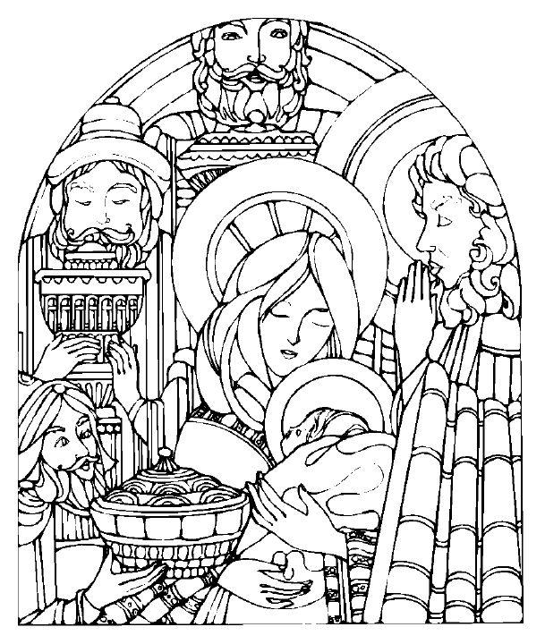 609x720 Manger Coloring Pages Page