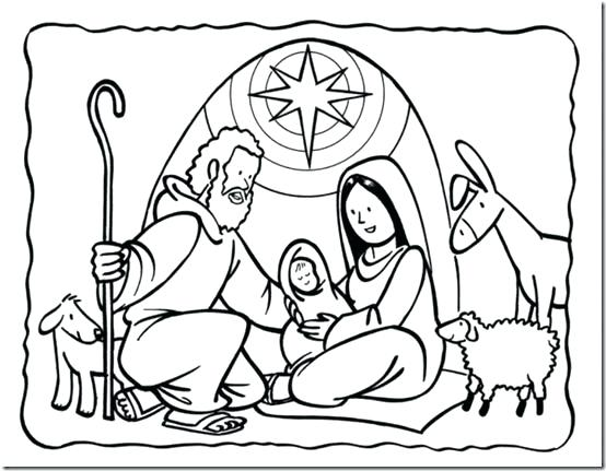 554x431 Manger Coloring Pages To Print Best Nativity Creche Images On Away
