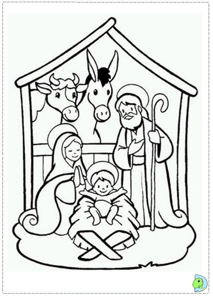 691x960 Nativity Coloring Page