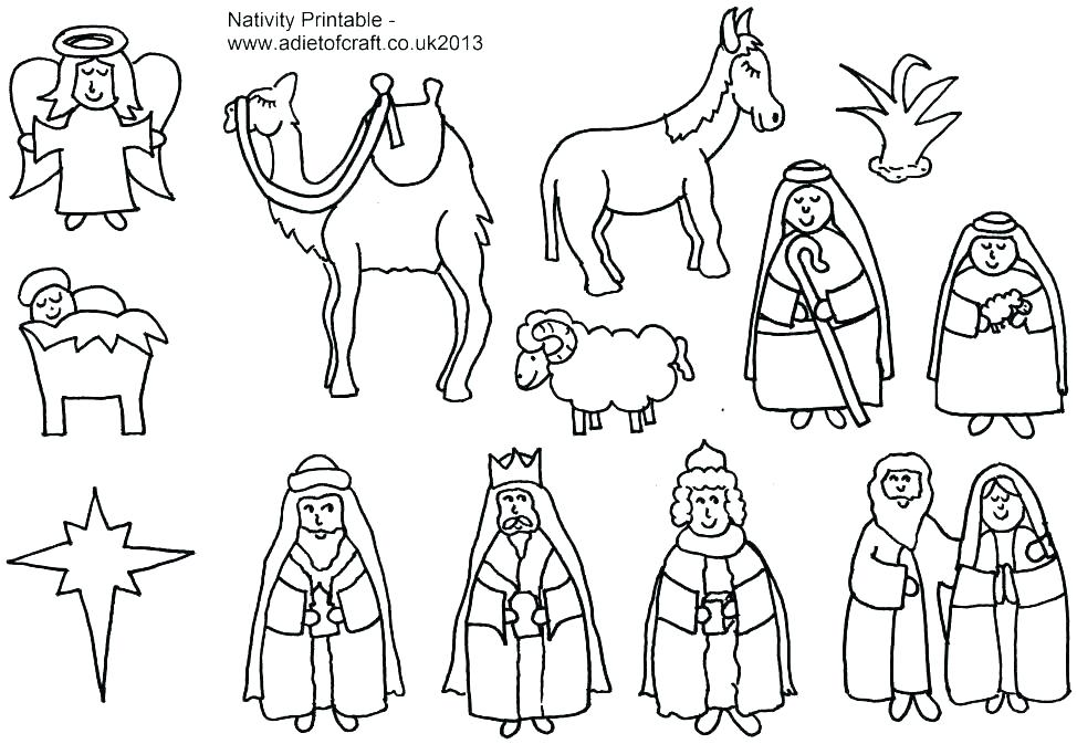974x673 Away In A Manger Coloring Pages
