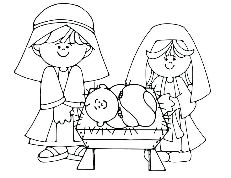 736x568 Free Nativity Scene Coloring Pages Nativity Scene Coloring Sheets