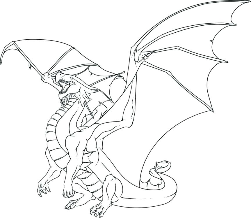 863x748 Cool Dragon Coloring Pages Dragons Throughout Printable Free